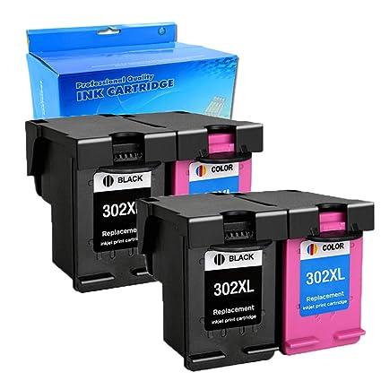 Ouguan HP 302 302 302XL - Cartuchos de Tinta compatibles con ...