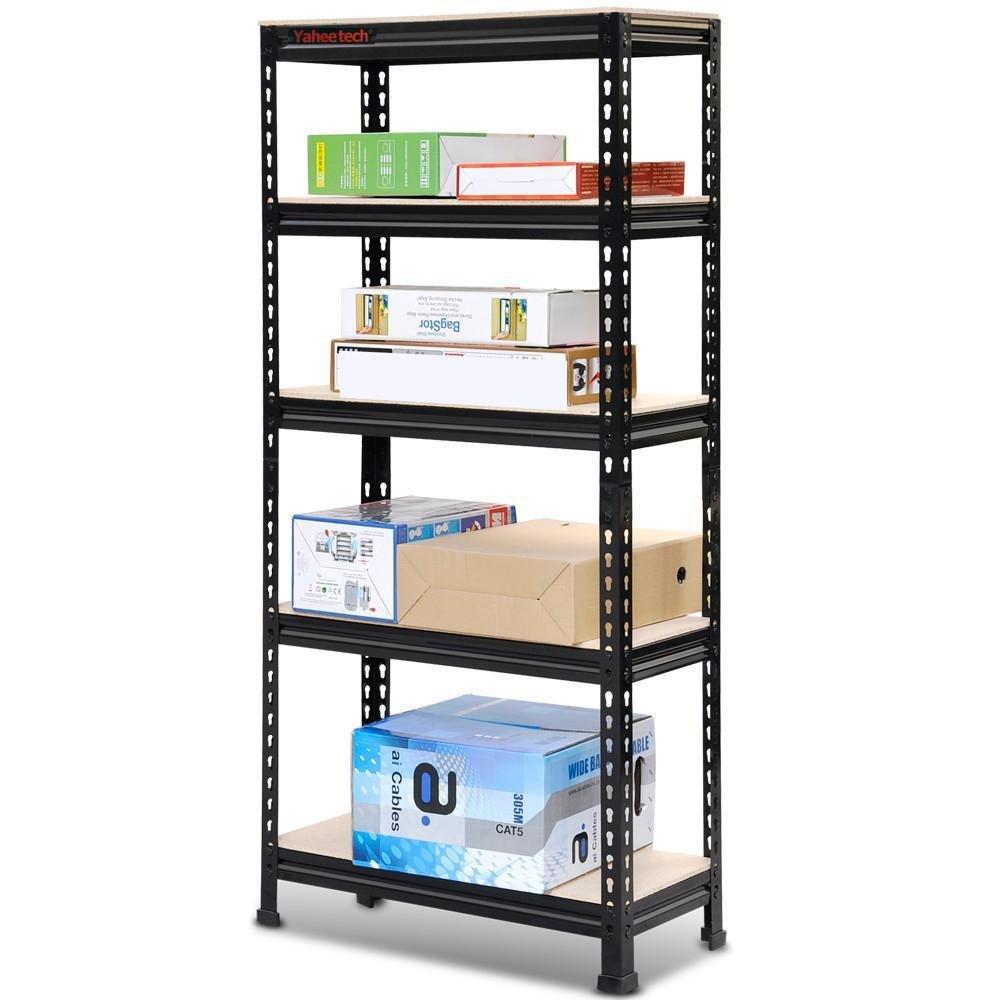 Amazon.com: Go2buy 5 Tier Storage Rack Heavy Duty Shelf Steel Shelving Unit  27 By 12 By 60 Inch: Home U0026 Kitchen