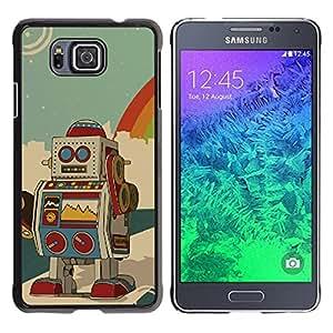Be Good Phone Accessory // Dura Cáscara cubierta Protectora Caso Carcasa Funda de Protección para Samsung GALAXY ALPHA G850 // Robot Ai Drawing Cartoon Animation Colorful