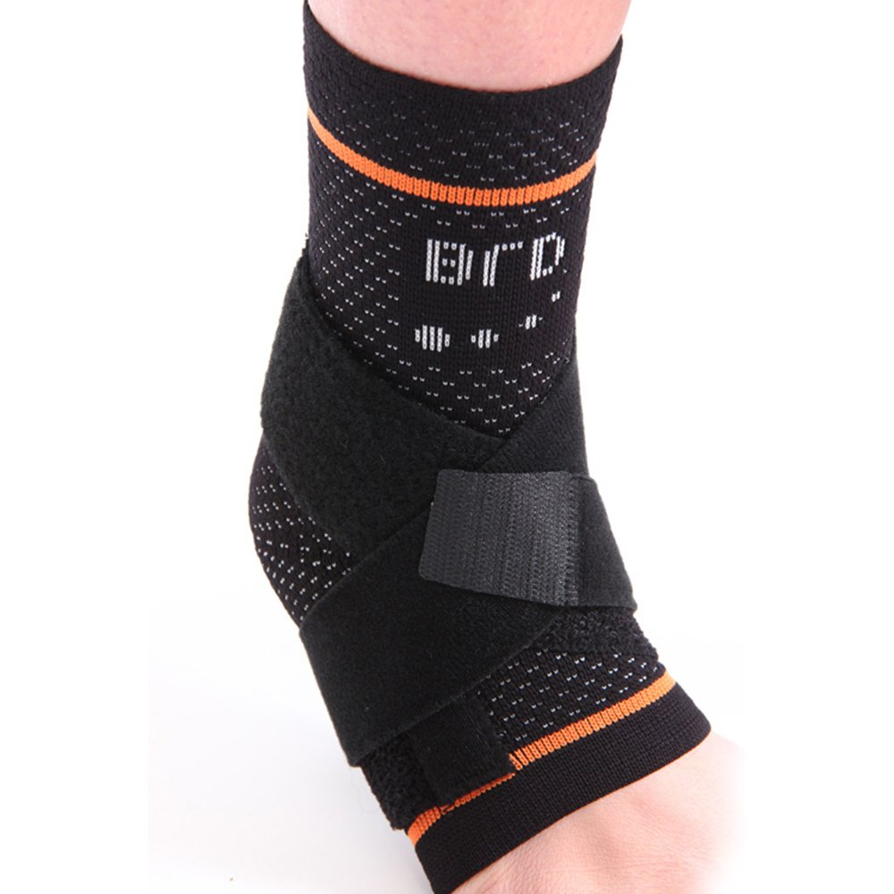 BRD Sport Ankle Brace with Figure 8 Strap (Left) XX Large Black