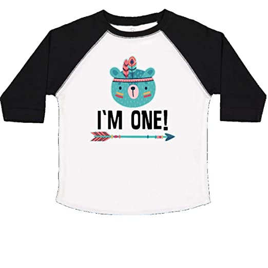 inktastic First Birthday Tribal Bear Cub 1 Year Old Baby T-Shirt