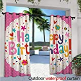"""lovely backyard patio cover design ideas Birthday Outdoor- Free Standing Outdoor Privacy Curtain Lovely Retro Greeting Card Inspired Design Hearts Smiles Flowers Dots Vintage for Front Porch Covered Patio Gazebo Dock Beach Home W120"""" x L84"""""""