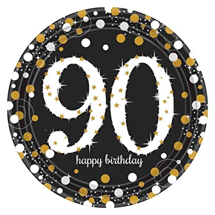 90th Birthday Party Paper Plates