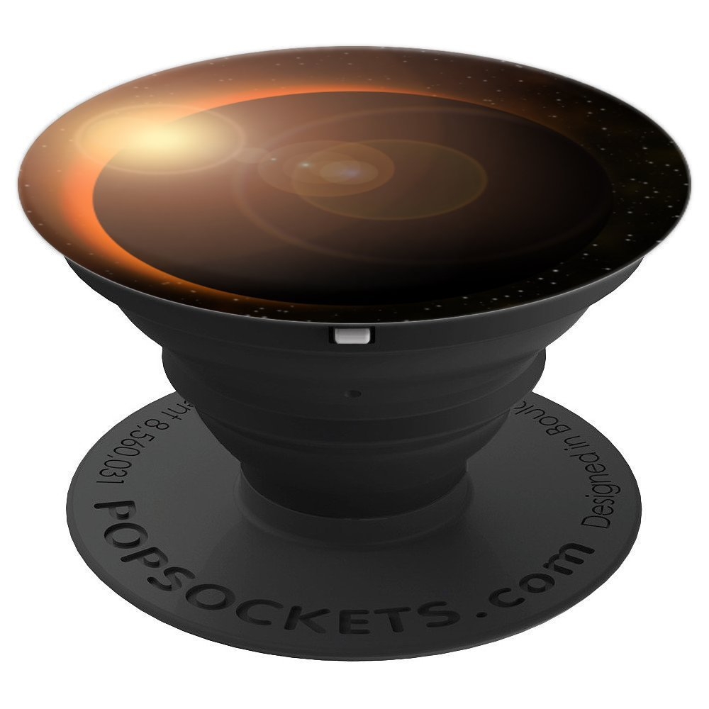 Colourful Lyfe Sun Solar Eclipse Cosmic Texture Galaxy - PopSockets Grip and Stand for Phones and Tablets