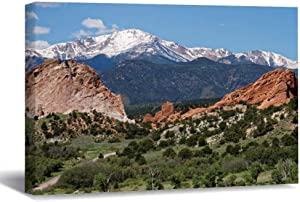 "wonbye Framed Canvas Wall Art Picture Print Colorado Springs, Colorado Garden of The Gods for Living Room Bedroom Home Decoration, Ready to Hanging 12""x16"""