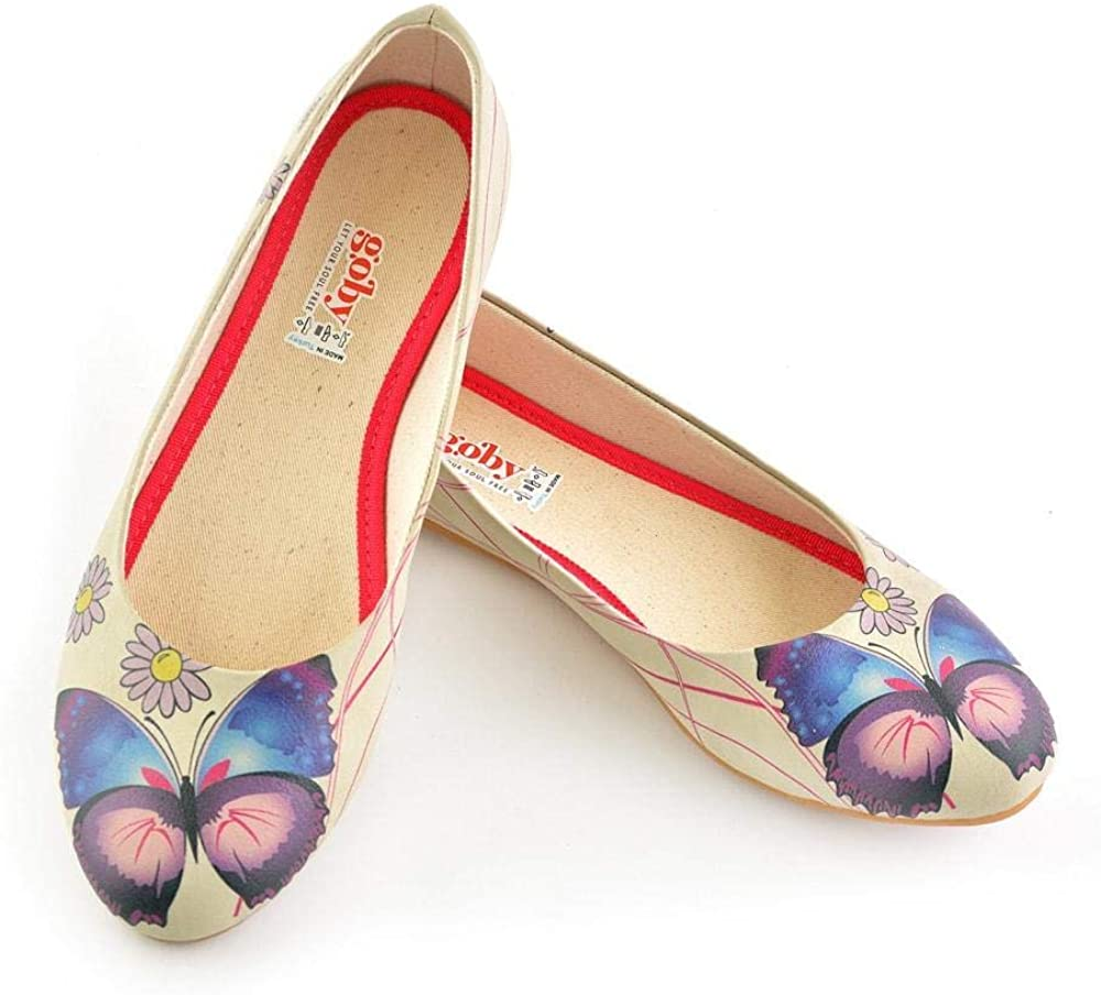 Daisy and Butterfly Ballerinas Shoes 1028