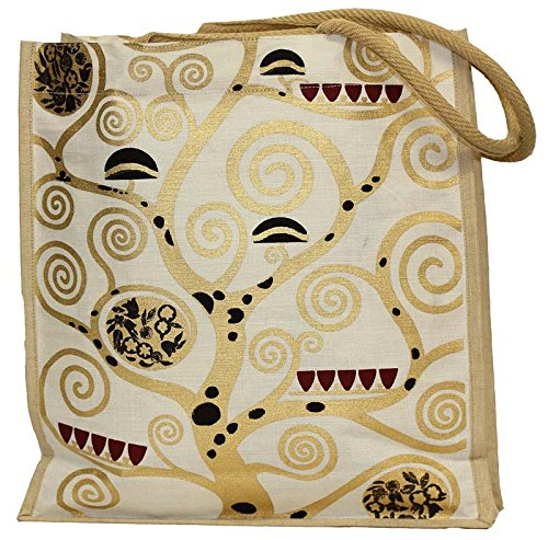 Yute bolsa vida algodó n blanco/oro, bolsa de la compra Artis Vivendi