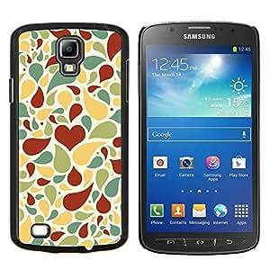 YiPhone /// Prima de resorte delgada de la cubierta del caso de Shell Armor - Amor patrón de corazón - Samsung Galaxy S4 Active i9295
