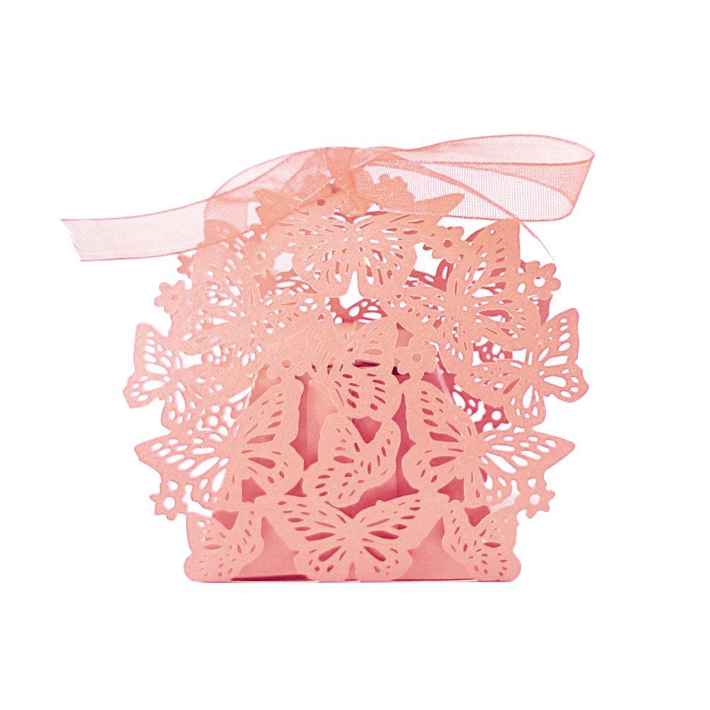 Amazon Gospire 50pcs Butterfly Party Wedding Favor Box Birthday
