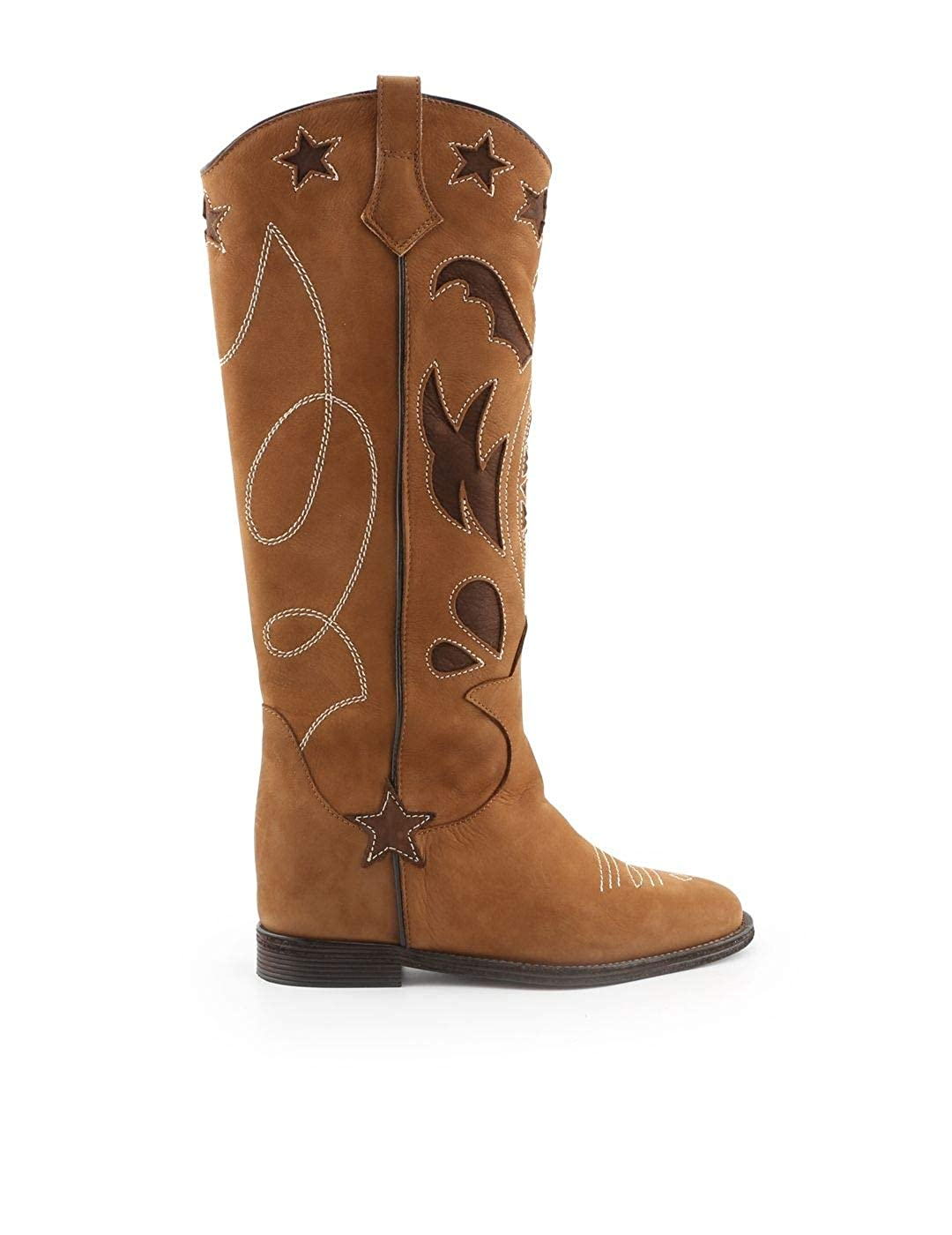 - VIA ROMA 15 Women's 3091BROWN Brown Leather Boots