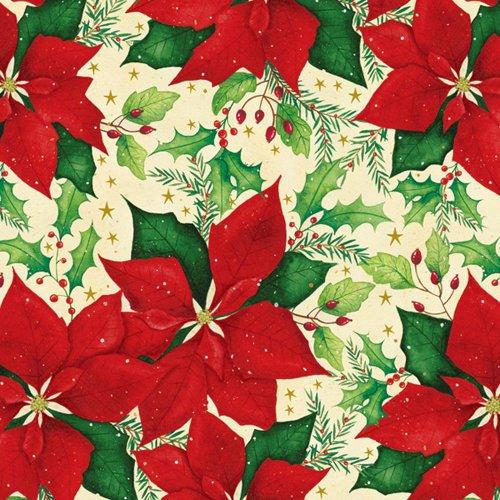 - Poinsettia Christmas Luncheon Napkin