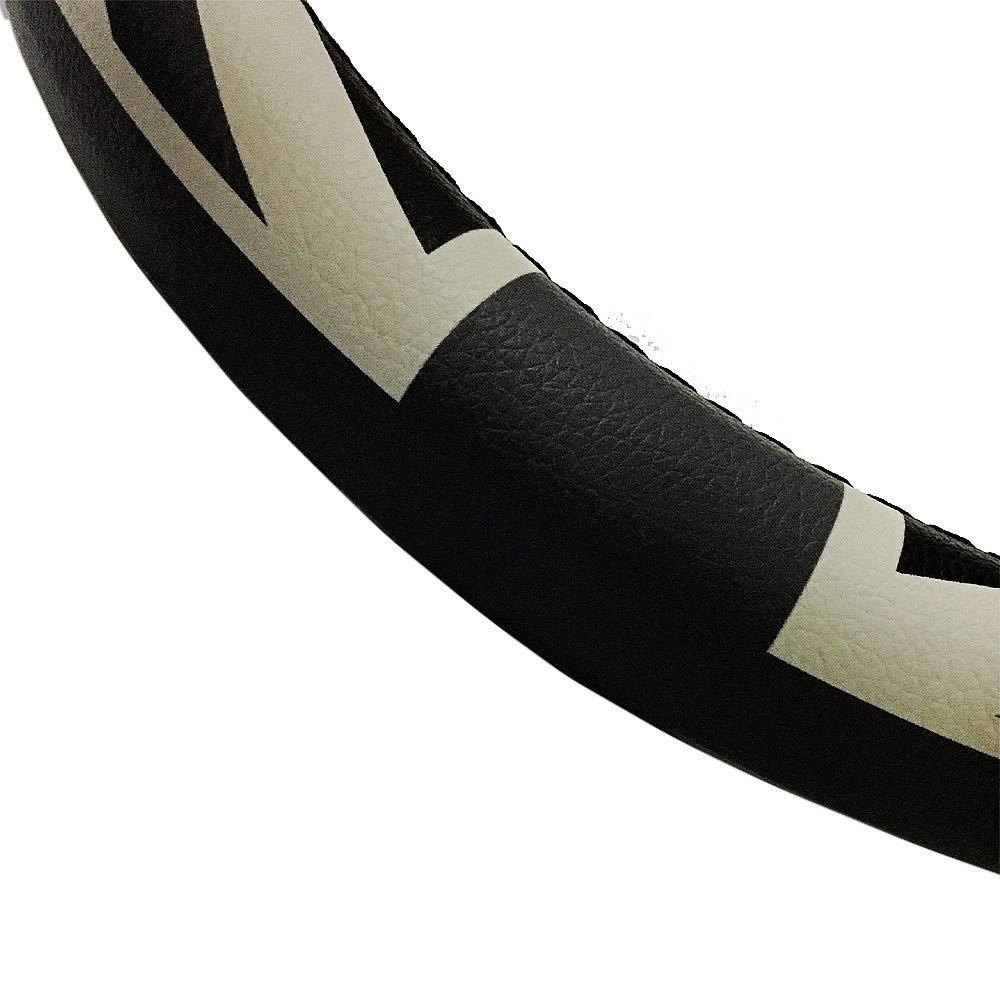 Amazon.com: Mr.Dakai Black and Gray British Style Union Jack Microfiber Leather Auto Car Steering Wheel Cover Universal 15 inch: Automotive