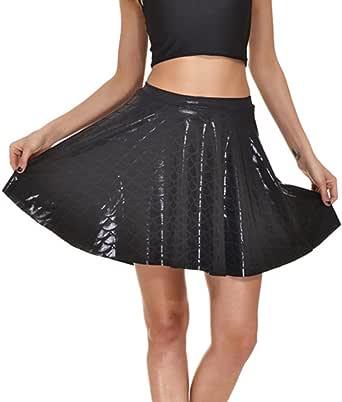 Falda para Mujer Moda Fish Scales Imprimiendo Skirts Sexy Sirena ...