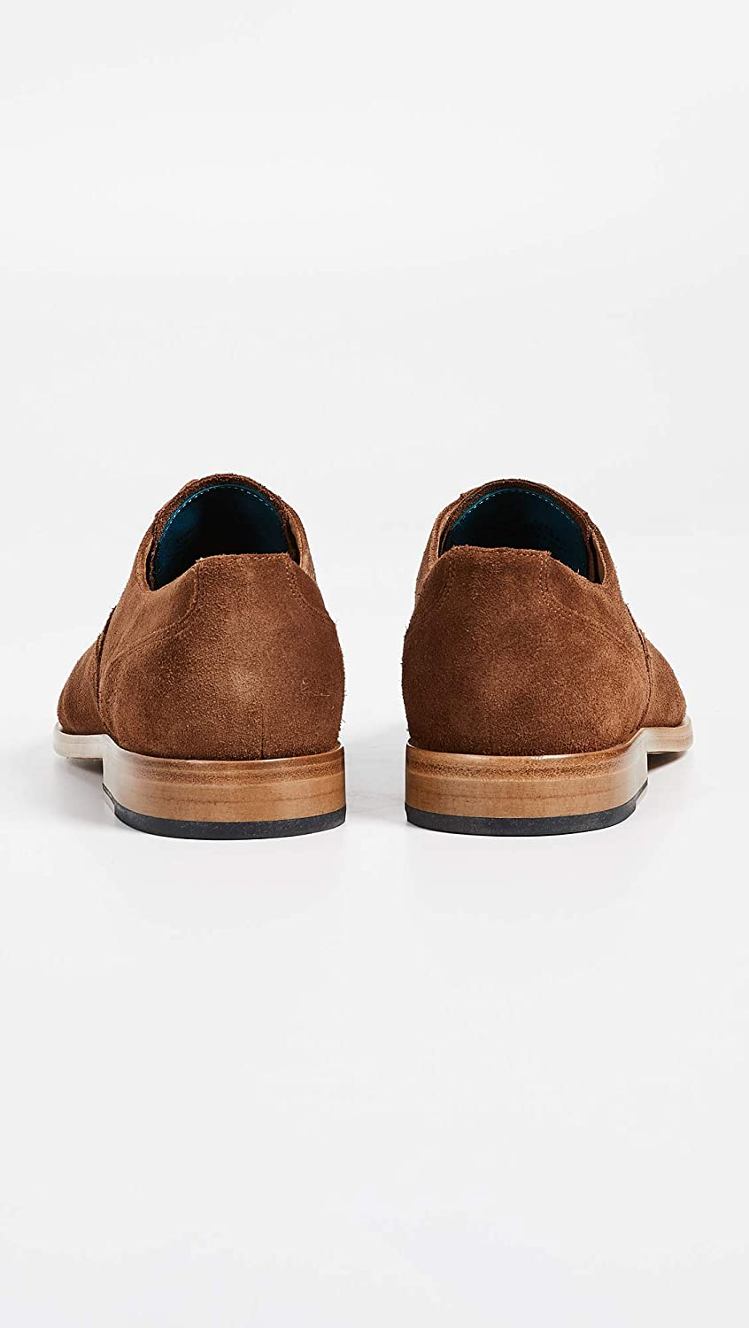 Tan, PS Paul Smith Mens Tompkins Suede Lace Ups Hazelnut