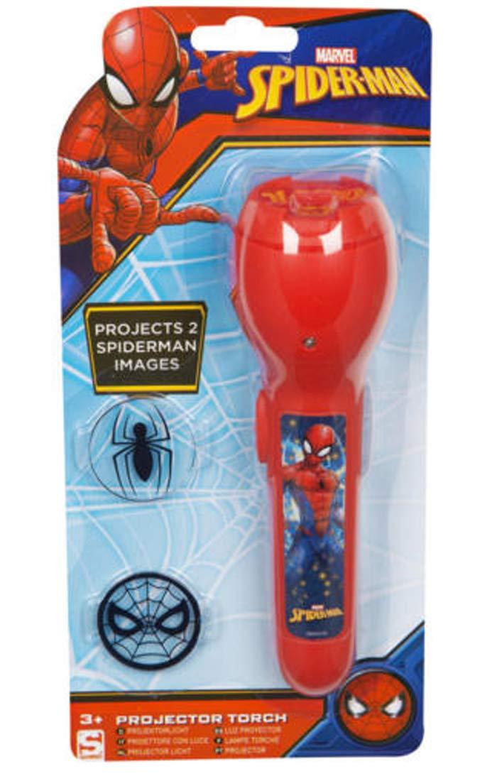 Marvel Spiderman Night Light Projector Torch Red con 2 ...