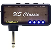 SONICAKE Mini amplificador de auriculares para guitarra de bolsillo portátil recargable US Classic