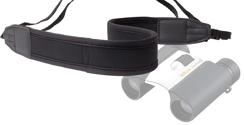 DURAGADGET軽量、パッド入り、調節可能なブラック首と肩ストラップとの互換性 – Nikon Sportstar EX 10 x 25dcf |トレイルブレイザーATB 10 x 25屋根プリズム双眼鏡 B01FHOAAPS