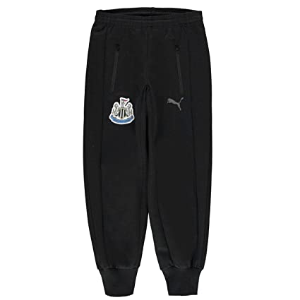 aa7216cb9414 Official Puma Newcastle United Track Pants Juniors Black Football Soccer  Sweat Bottoms 7-8 Years