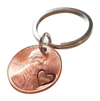 Amazon.com: Llavero de moneda de un centavo, con ...