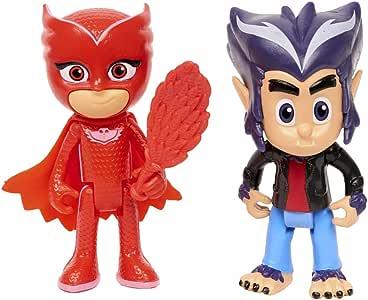 PJ Masks - Pack de 2 Figuras, Buhita y Howler (Bandai 95265): Amazon.es: Juguetes y juegos