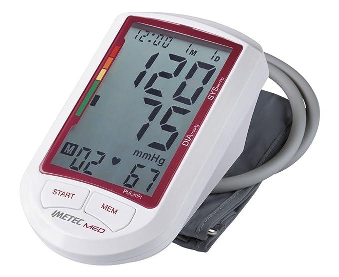 IMETEC MED BP1 200 - Tensiómetro de brazo, numeración grande, pantalla táctil, color blanco y gris: Amazon.es: Salud y cuidado personal