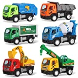 Best Liberty Imports Toddler Trucks - Set of 6 Pullback City Builder Construction Vehicles Review