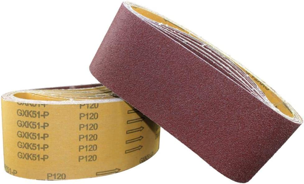 KJKJ Sanding Paper 10pcs 100 * 610mm Abrasive Sanding Belts Sanding Paper for Belt Sanders Bench Grinder Grinding Polishing Tool 40-8000 Grit 10pcs800grit