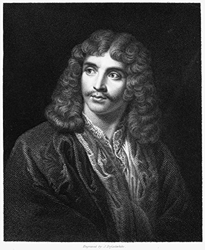 Moliere (1622-1673) Npseudonym Of Jean Baptiste Poquelin French Actor And Playwright Steel Engraving English 1833 Poster Print by (18 x 24)
