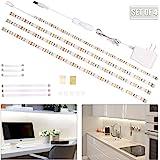 wobsion Under Cabinet Lighting, 6.6 ft Led Light Strips, White Under Counter Lighting,4 Pcs Under Cabinet Lights,120 LEDs,Led