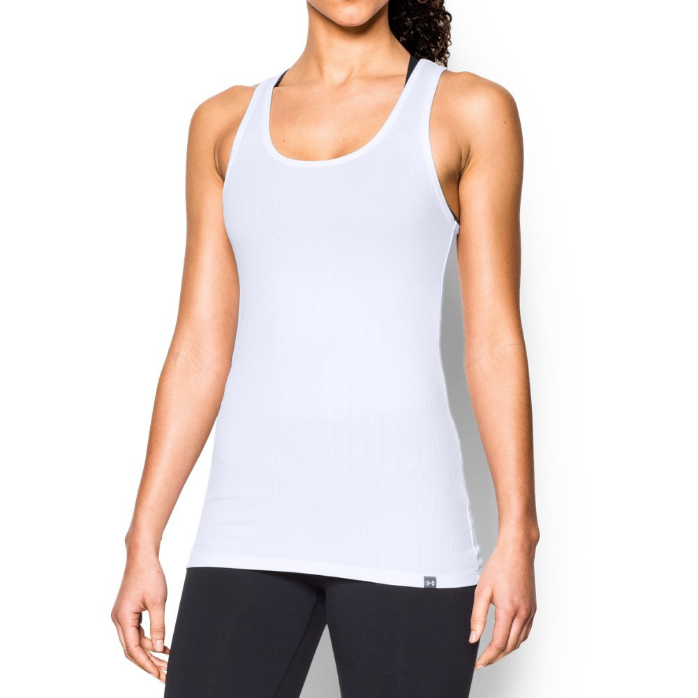 Under Armour Women's Tech Victory Tank, White/Granite, Medium