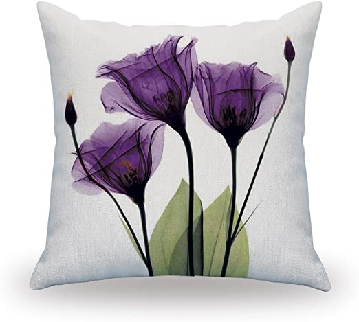 Pink Tulips 3D Photo Printed High Quality Double Sided Cushion Cover 45cmx45cm