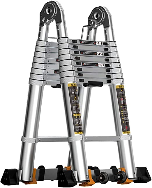 Erru Escalera Telescópica- De Aluminio Telescópica Escalera para ...