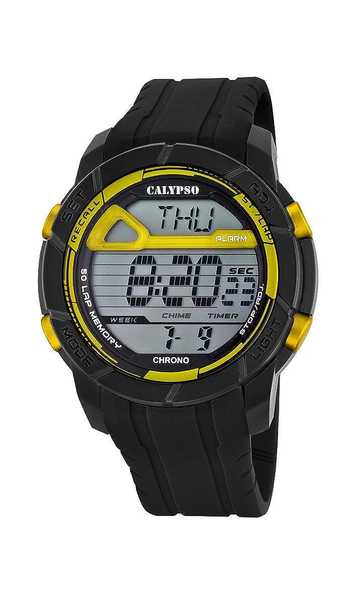 Calypso Watches Reloj Digital para Hombre de Cuarzo con Correa en Caucho K5697_5: Amazon.es: Relojes