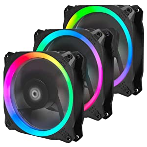 Antec Spark 120mm RGB LED Case Fan Radiator,3 Packs