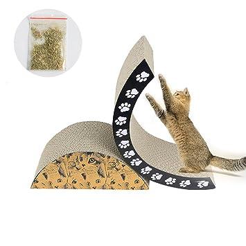 AOLVO Rascador para Gatos con Forma semicircular, Duradero y reciclable, para Gatos, rascadores o Jugando, 2 Piezas separadas: Amazon.es: Hogar