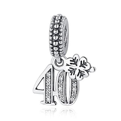 f2c428601 Amazon.com: Pandora 791288CZ 40 Years Of Love Charm: Sports & Outdoors