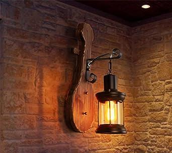 Nórdico Retro Estilo Industrial Lámpara de Pared Guitarra Creativa ...