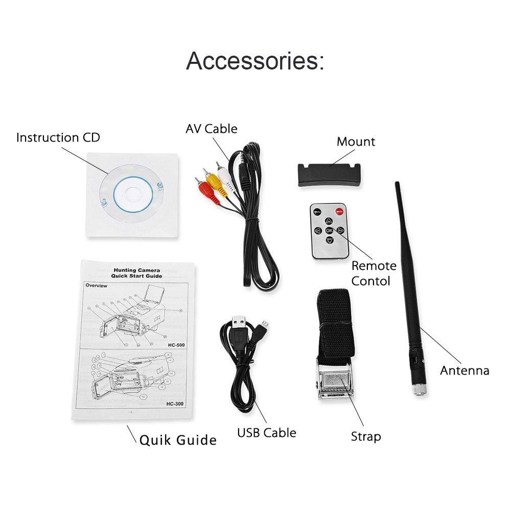 3G 16MP HD lleno Trailcamera HC-550 G 48 LED Negro desencadenar 0,5 seg cámara de vigilancia cámara trampa Caza Ángulo de visión 120° Soporta 3G / 2G GSM ...