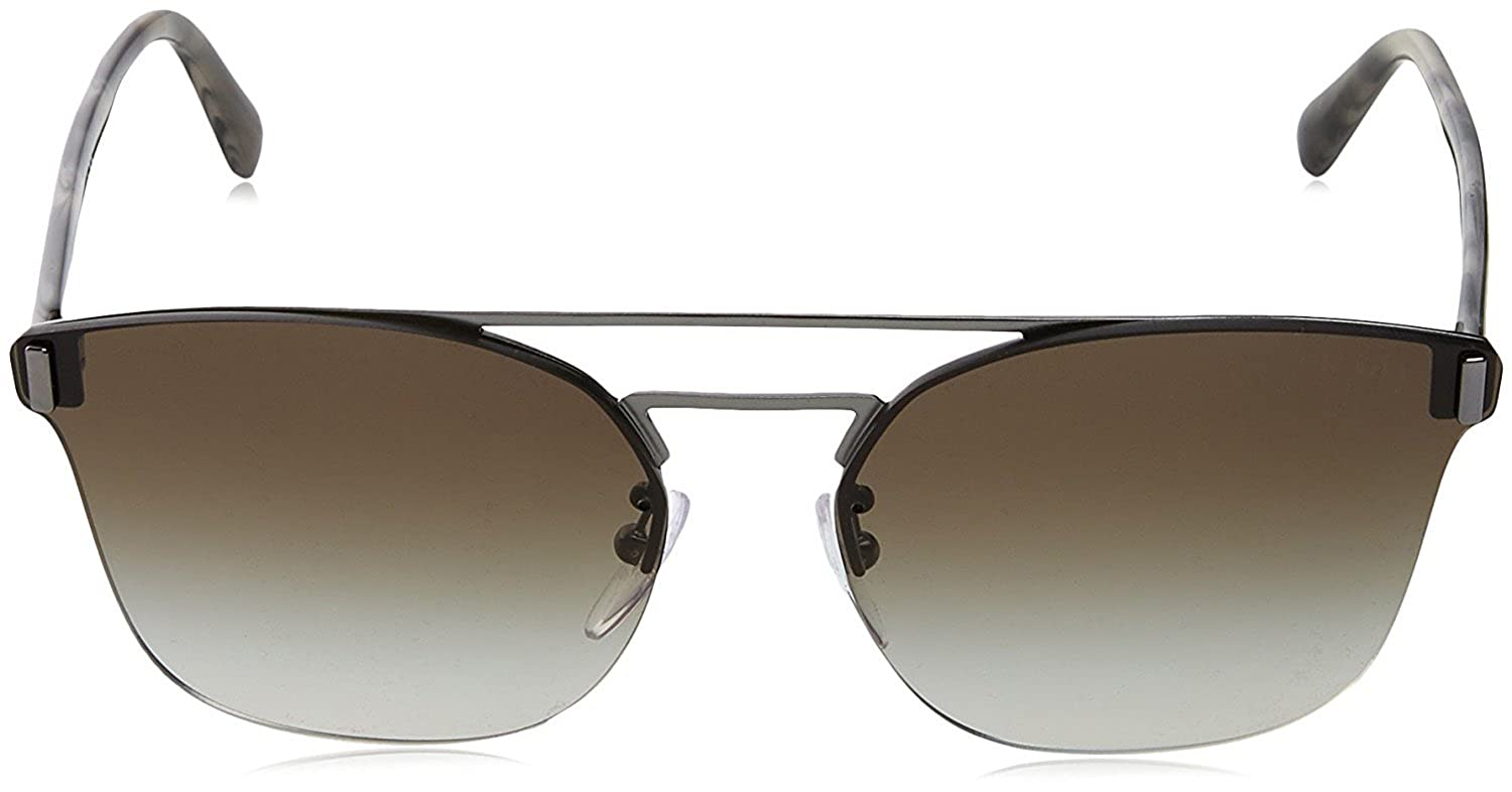 f52b8fefa9 Amazon.com  Prada PR67TS Sunglasses Gunmetal Grey w Brown 63mm Lens 5AV8C1  SPR67T PR 67TS SPR 67T  Clothing