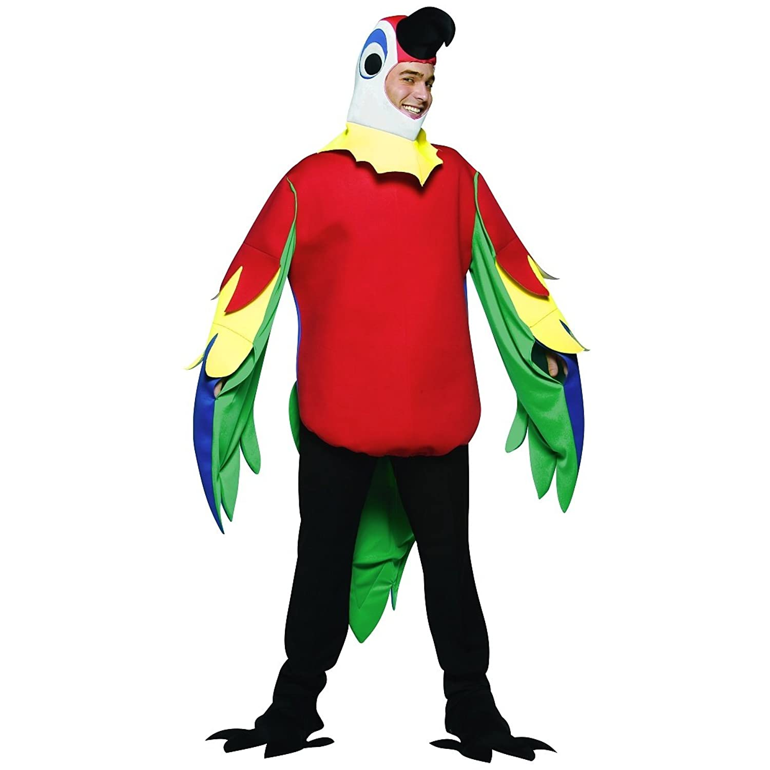 amazoncom adult parrot halloween costume clothing - Amazon Halloween Costumes Men