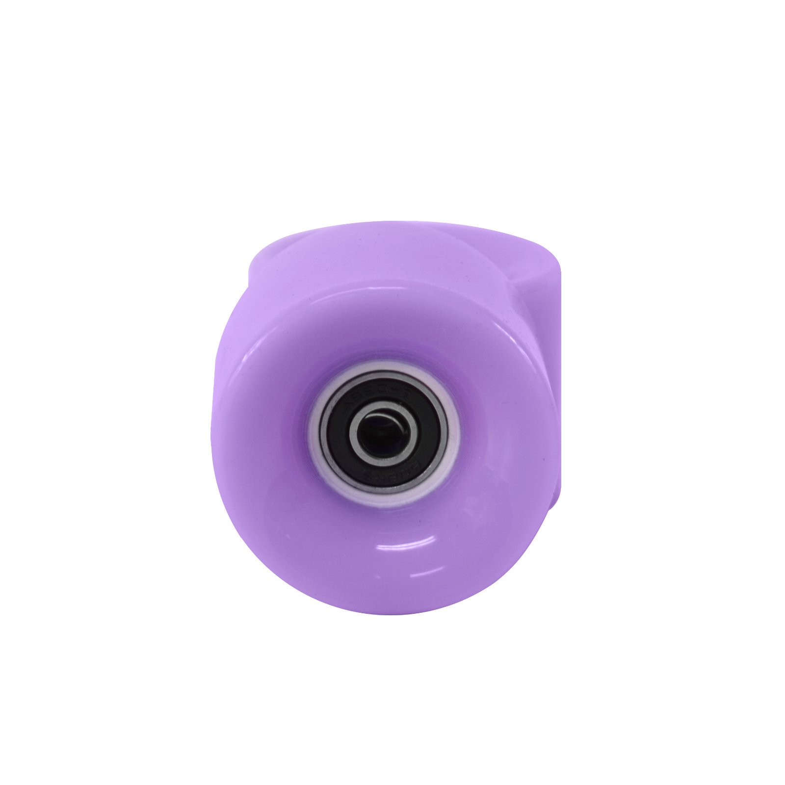 59mm Purple Classic Skateboard Wheels Set Of 4 Include 8PCS ABEC 7 Bearings Mounted by Generic