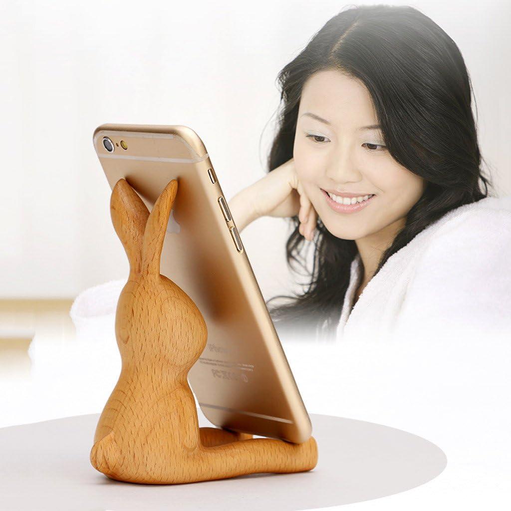 Mobile phone holder multi-angle desktop phone holder solid wood animal phone holder multi-function mobile phone holder for iPhone 7 phone holder 7 Plus phone holder