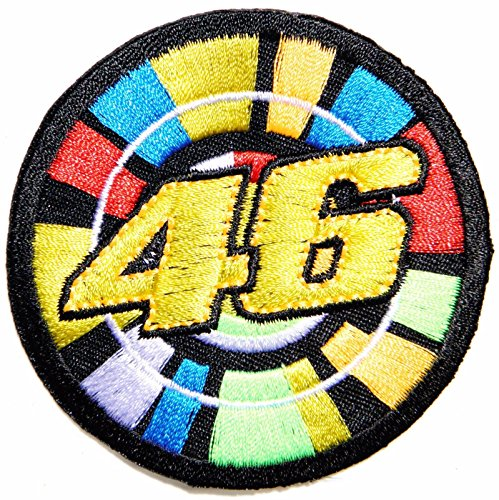 """3""""X3"""" 46 Valentino Rossi Moto Gp Biker Patch Iron On for sale  Delivered anywhere in USA"""