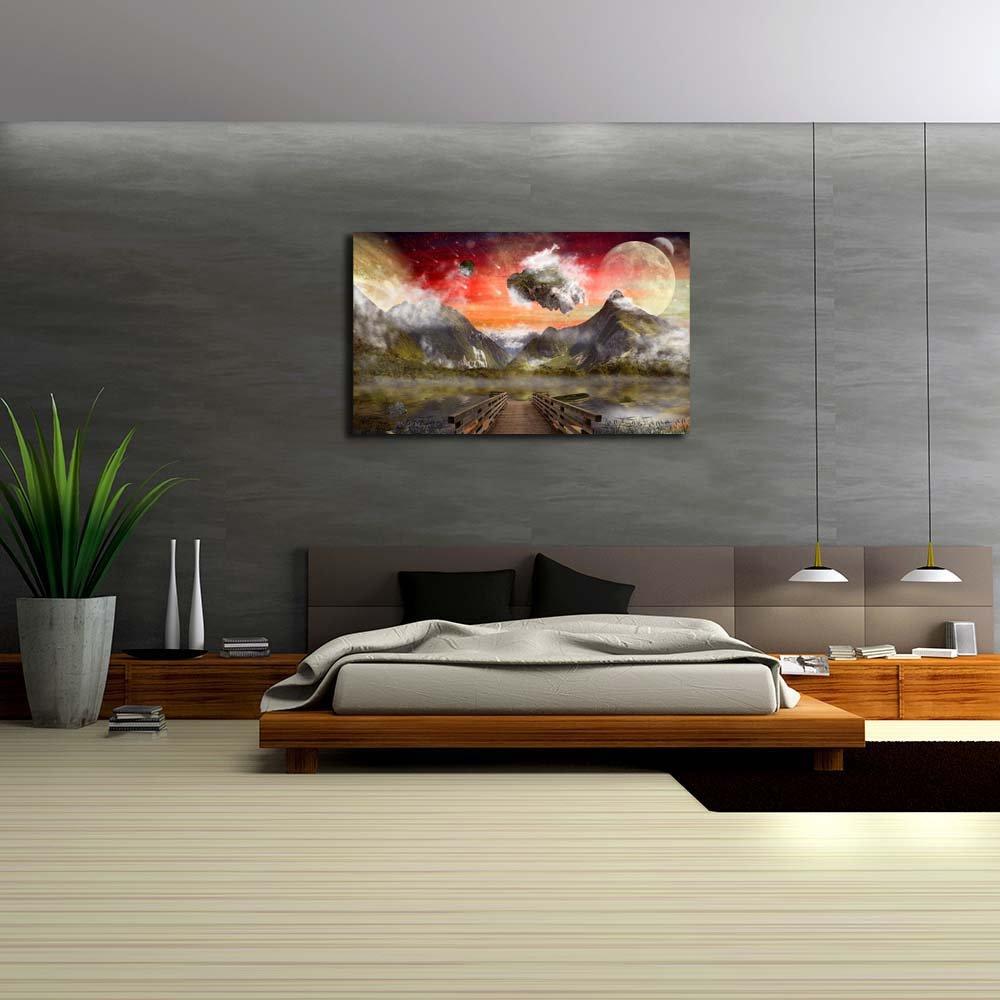 Pitaara Box Fantasy Land Unframed Canvas Painting x 37.4 x Painting 22.4inch 71c428