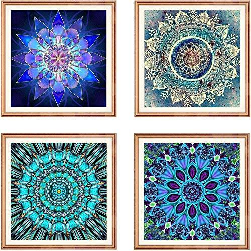 Diamond Painting Full Drill Mandala Diamond Embroidery Painting 5D Flower Painting Full Drill Round Diamond Mosaic Home Decor Painting