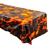 Lava Table Covers (2), Luau Party Supplies, Volcano Birthday, Lava Table Setting