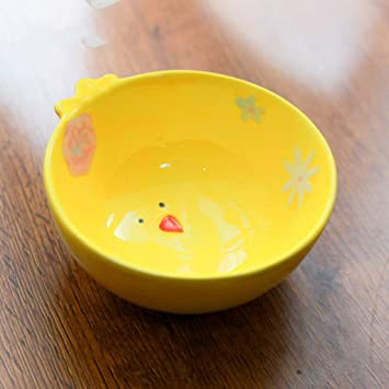 HLJ Tazón de alimentación Simple Tazón de Mascota Tazón de cerámica de Dibujos Animados Creativo Tazón