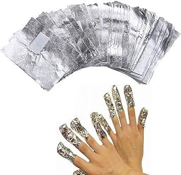 DOXMAL - Papel de aluminio con algodón para limpieza de uñas ...