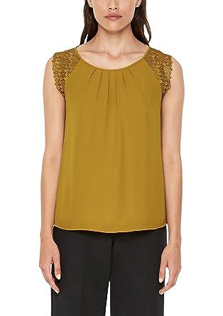 7071a249cd4c Oliver BLACK LABEL Damen Blusenshirt mit Spitze  s.Oliver BLACK LABEL   Amazon.de  Bekleidung