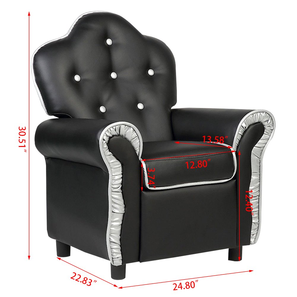 Kids Sofa, GentleShower Children Armchair PU Leather Riveted Sofa Recliner Chair with High Back...